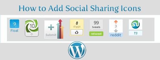 Add Social Sharing Icons